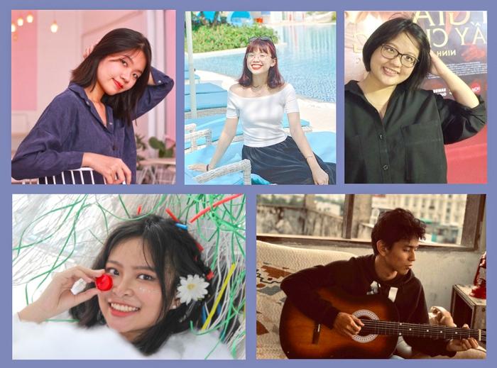 Các tác giả Võ Thục Phương, Mai Nguyễn Ngọc Trâm, Cố Quỳnh Dao, Lê Thảo Tường Vy, Đinh Nho Khoa