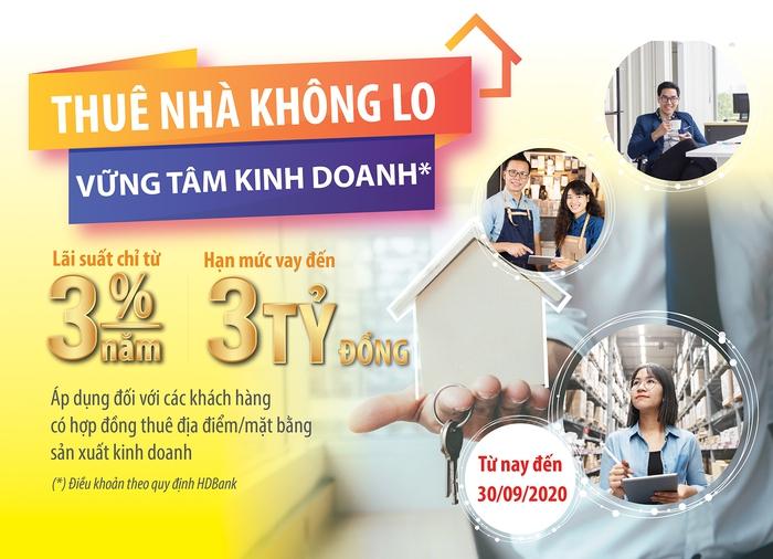 Thuê nhà không lo, vững tâm kinh doanh cùng gói ưu đãi của HDBank - Ảnh 1.