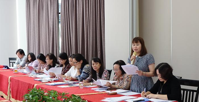 Bà Nguyễn Thị Thục Hạnh, Tổng Biên tập Báo PNVN có ý kến về đổi mới cách tuyên truyền nhằm thu hút nhiều thành phần, các tầng lớp phụ nữ tham gia các phong trào, hoạt động vì sự tiến bộ phụ nữ