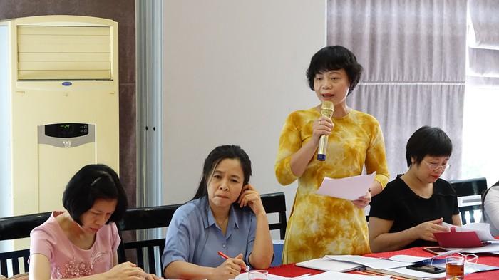 Bà Nguyễn Thanh Cầm (UV Đoàn Chủ tịch, Trưởng Ban Chính sách - Luật pháp, Hội LHPN Việt Nam) có góp ý đáng chú ý về nâng cao vị thế của Việt Nam, trong đó có phụ nữ Việt Nam trên trường quốc tế