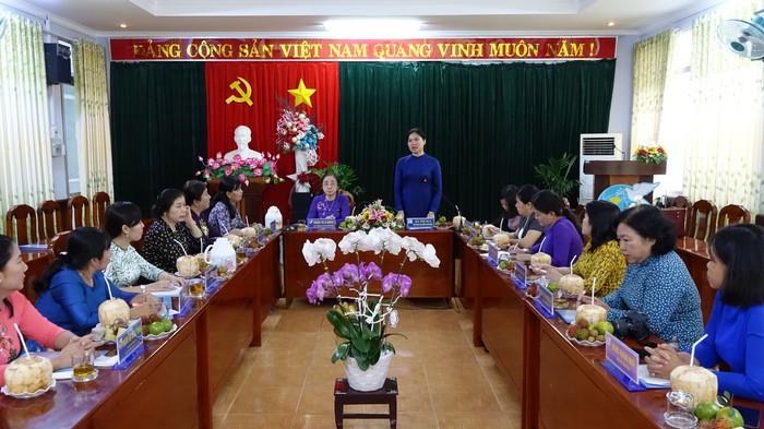 Lãnh đạo Hội LHPN Việt Nam làm việc với Hội LHPN tỉnh Tiền Giang