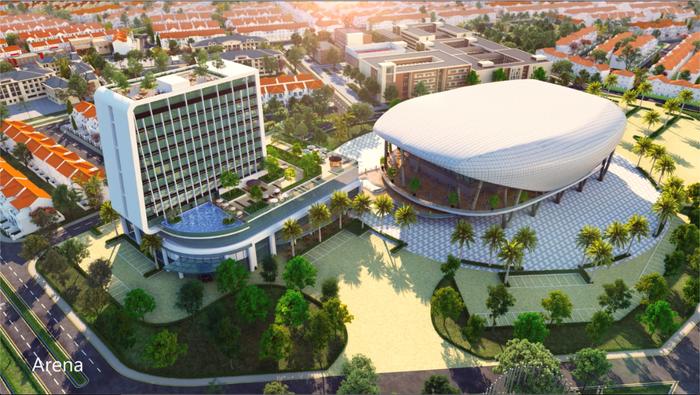 Khách sạn  Novotel được xây dựng tại phân khu River Park 2 (The Valencia) thuộc Đô thị sinh thái thông minh Aqua City