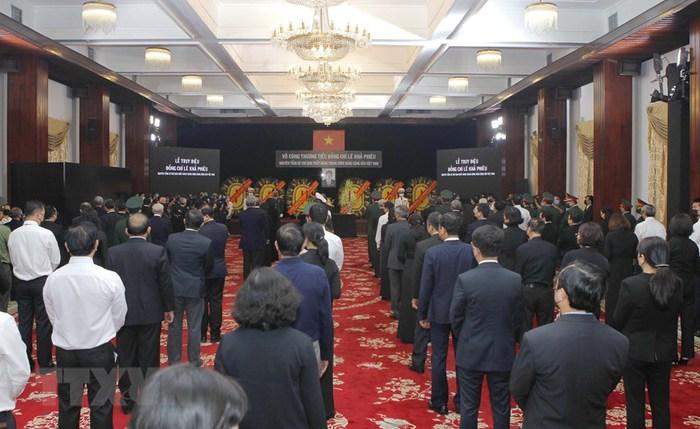 Tổ chức trọng thể Lễ truy điệu nguyên Tổng Bí thư Lê Khả Phiêu - Ảnh 8.