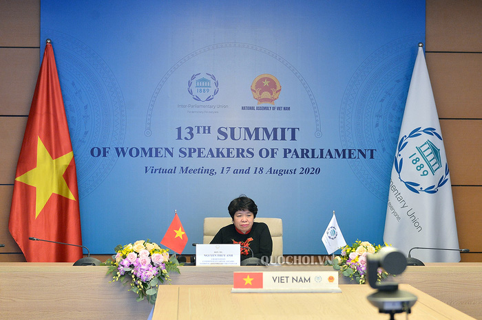"""Chủ nhiệm Ủy ban Về các vấn đề xã hội Nguyễn Thúy Anh tham gia phiên thảo luận chuyên đề về """"Đẩy mạnh trao quyền kinh tế và tài chính cho phụ nữ"""" trong khuôn khổ Hội nghị thượng đỉnh các nữ chủ tịch Quốc hội thế giới lần thứ 13"""