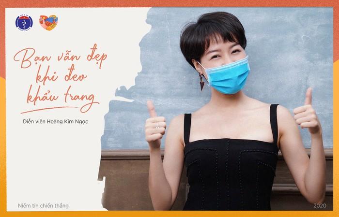 Nghệ sĩ, diễn viên, hoa hậu đeo khẩu trang để tuyên truyền chống COVID-19 - Ảnh 4.