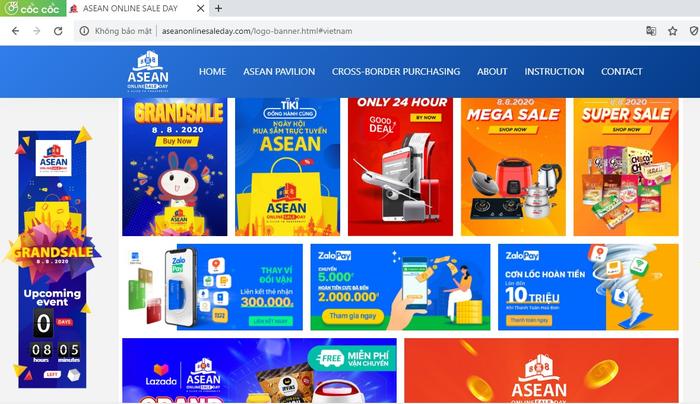 Ngày mua sắm trực tuyến ASEAN lần đầu tiên tổ chức với nhiều ưu đãi đặc biệt - Ảnh 2.