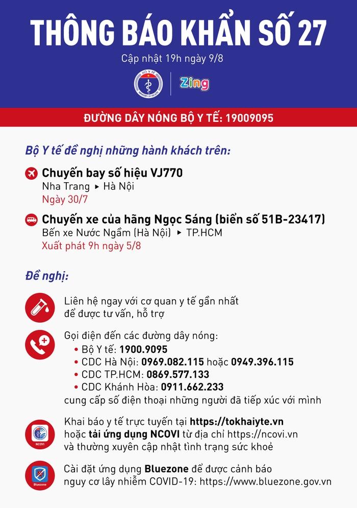 Thông báo khẩn số 27 của Bộ Y tế: Tìm người trong chuyến bay VJ770 - Ảnh 1.