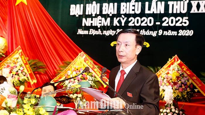 Tỉ lệ nữ cấp ủy nhiệm kỳ 2020-2025 của tỉnh Nam Định là 11,2% - Ảnh 1.