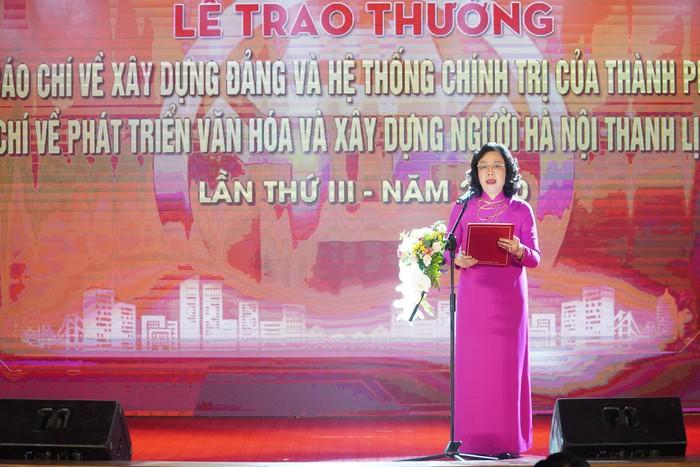 Vinh danh 66 tác phẩm báo chí xuất sắc về Xây dựng Đảng và phát triển văn hóa Hà Nội - Ảnh 1.