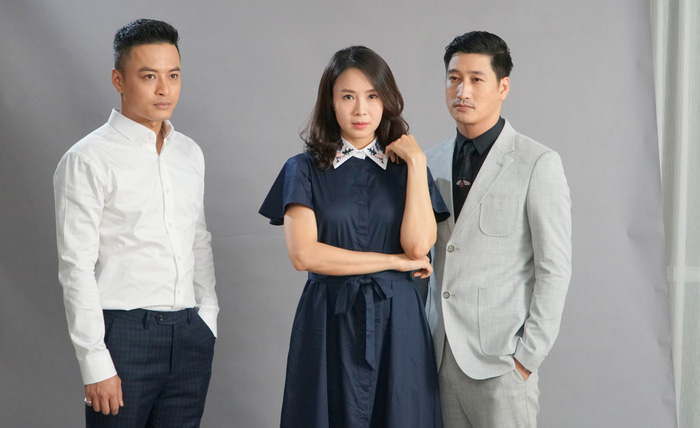 """Hồng Diễm và 2 diễn viên cùng đóng """"Hoa hồng trên ngực trái"""" Hồng Đăng và Ngọc Quỳnh"""