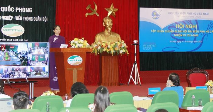 Hội LHPN Việt Nam tập huấn chuẩn bị Đại hội đại biểu phụ nữ các cấp - Ảnh 1.