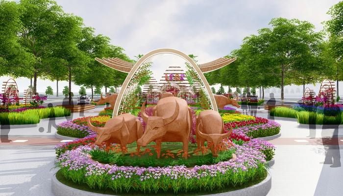 Đường hoa Nguyễn Huệ Tết Tân Sửu 2021 có gì mới lạ? - Ảnh 1.