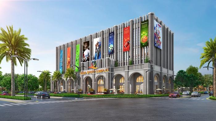 Trung tâm thể thao đa năng Aqua Sport Complex quy mô tại Aqua City kỳ vọng sẽ mang đến những trải nghiệm thể thao đẳng cấp cho cư dân và du khách.