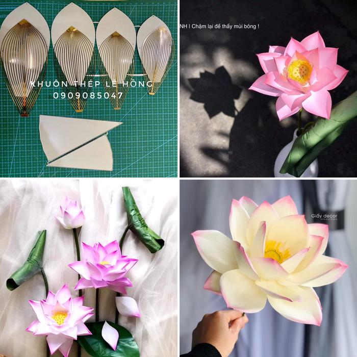 Khuôn hoa sen - thiết kế độc quyền tạo khuôn lá theo hình dáng hoa thật.