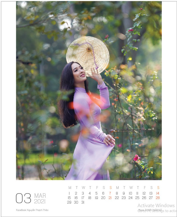 Lịch ảnh Áo dài Thảo Nữ ghi lại vẻ đẹp rạng ngời của phụ nữ và cảnh trí Việt Nam - Ảnh 4.