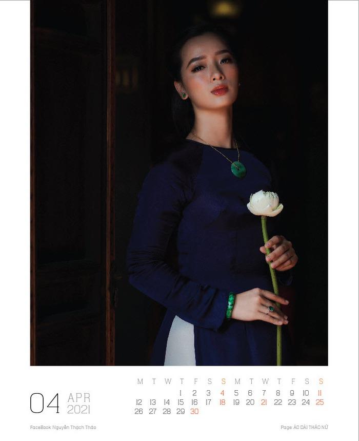 Lịch ảnh Áo dài Thảo Nữ ghi lại vẻ đẹp rạng ngời của phụ nữ và cảnh trí Việt Nam - Ảnh 5.