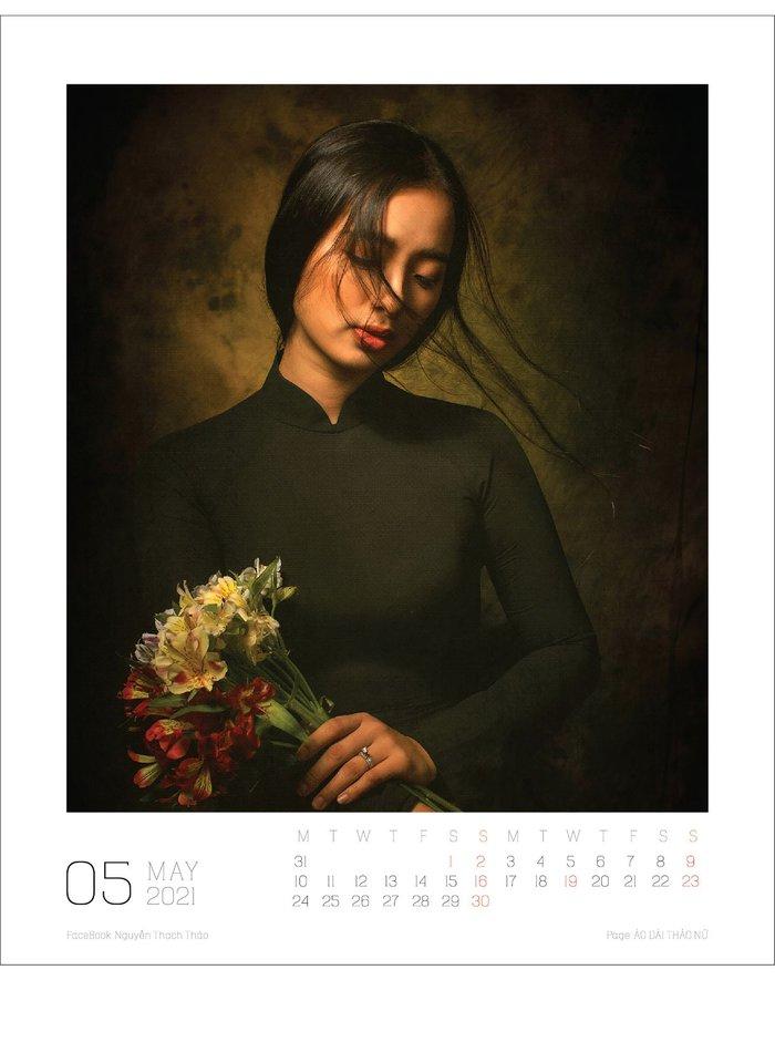 Lịch ảnh Áo dài Thảo Nữ ghi lại vẻ đẹp rạng ngời của phụ nữ và cảnh trí Việt Nam - Ảnh 6.