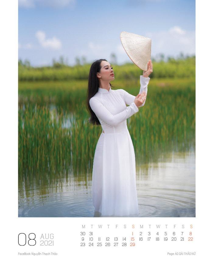 Lịch ảnh Áo dài Thảo Nữ ghi lại vẻ đẹp rạng ngời của phụ nữ và cảnh trí Việt Nam - Ảnh 9.