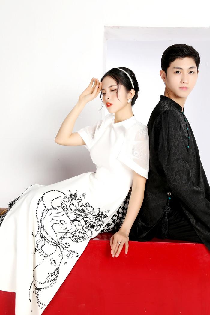 Cao Minh Tiến thiết kế áo dài lấy cảm hứng từ Dân ca Quan họ  - Ảnh 3.