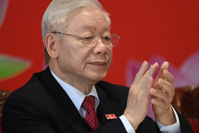 Tổng Bí thư, chủ tịch nước Nguyễn Phú Trọng chủ trì họp báo bế mạc Đại hội Đảng XIII - Ảnh 1.