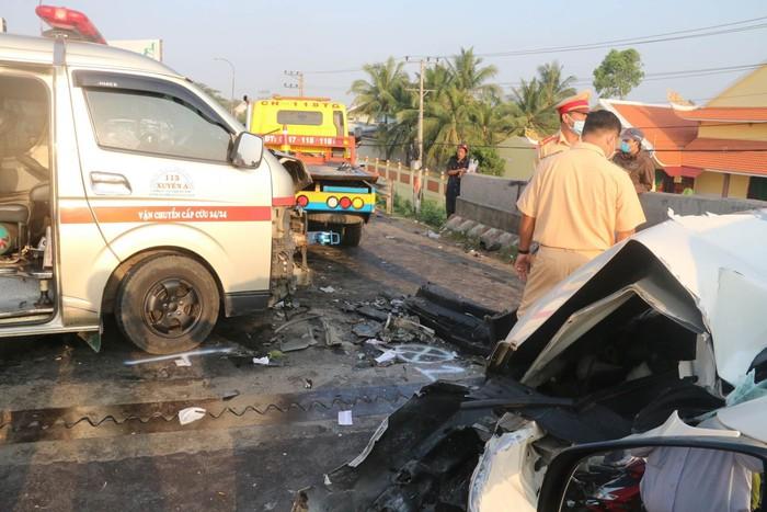 Hiện trường một vụ tai nạn giao thông trong dịp Tết Tân Sửu 2021