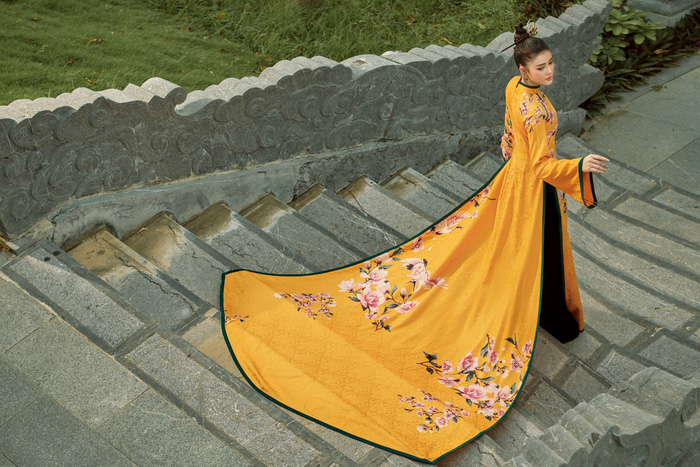 Á hậu Lý Kim Thảo quảng bá di sản qua tà áo dài - Ảnh 11.