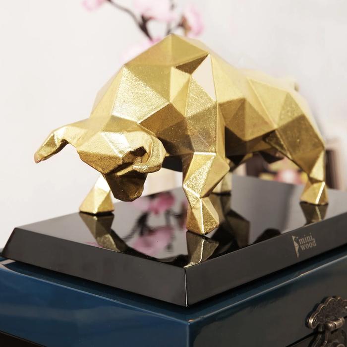 Độc đáo những bức tượng trâu vàng quà tặng Tết Tân Sửu 2021 - Ảnh 4.
