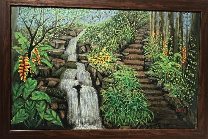 """""""Trong rừng"""" - tranh Acrylic của Phạm Kim Châu"""