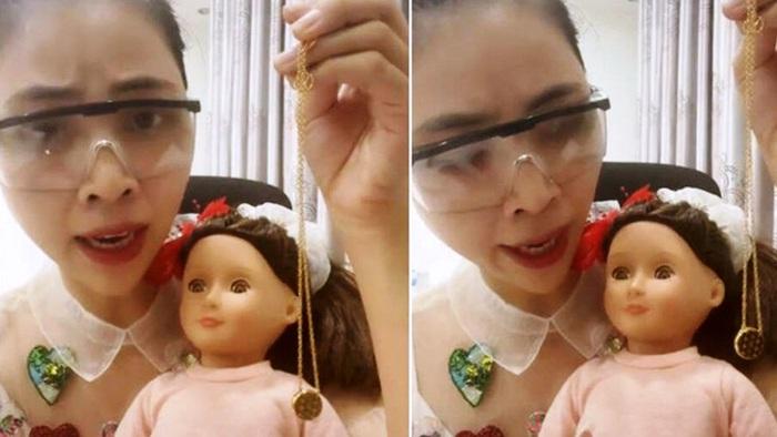 Đoạn clip phản cảm, có dấu hiệu tuyên truyền mê tín dị đoan của Youtuber Thơ Nguyễn có thể sẽ bị xử phạt nặng (ảnh cắt từ clip)