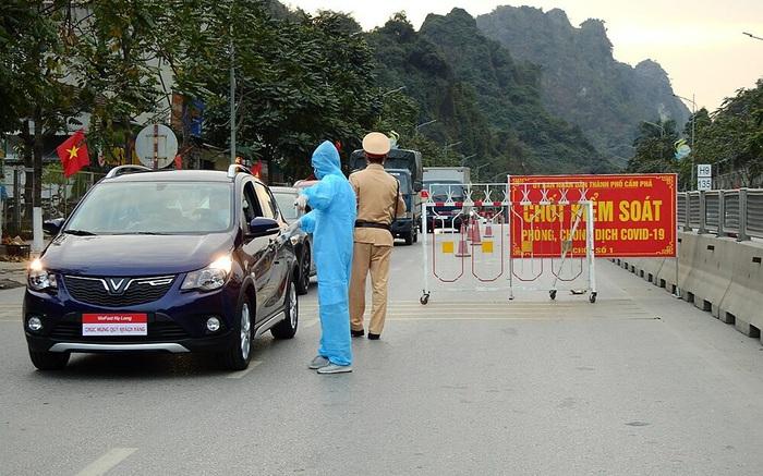 Các chốt kiểm soát Covid-19 tại Quảng Ninh sẽ dừng hoạt động