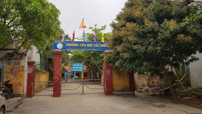 Trường Tiểu học Sài Sơn B đang là tâm điểm dư luận sau những tố cáo của cô Nguyễn Thị Tuất (ảnh Hà Khê)
