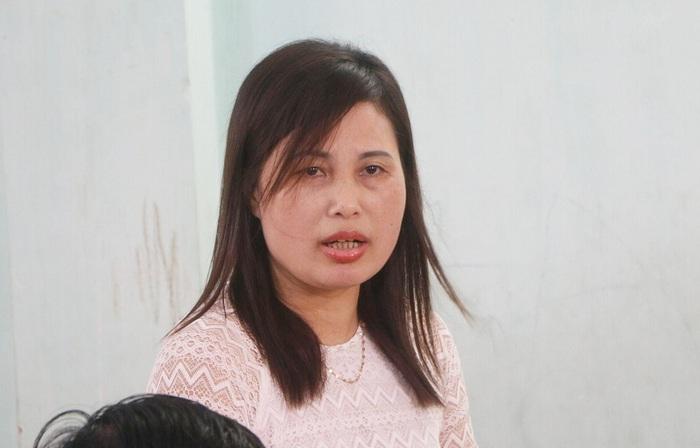 Cô giáo Nguyễn Thị Tuất, người đã tố bị trù dập, học sinh đánh