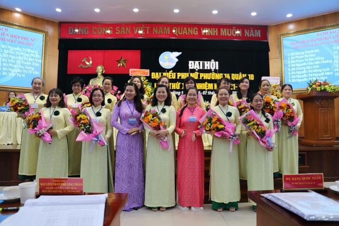 """Đại Hội đại biểu Phụ nữ Hội LHPN phường 14, quận 10 TPHCM quyết tâm """"Xây dựng gia đình 5 không 5 có 3 sạch"""" - Ảnh 3."""