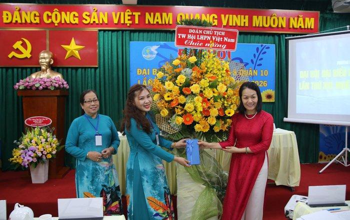 TPHCM: Đại hội Đại biểu phụ nữ phường 8 lần thứ XIII (nhiệm kỳ 2021-2026) - Ảnh 1.