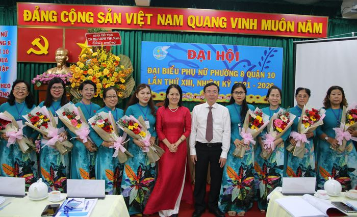 TPHCM: Đại hội Đại biểu phụ nữ phường 8 lần thứ XIII (nhiệm kỳ 2021-2026) - Ảnh 3.
