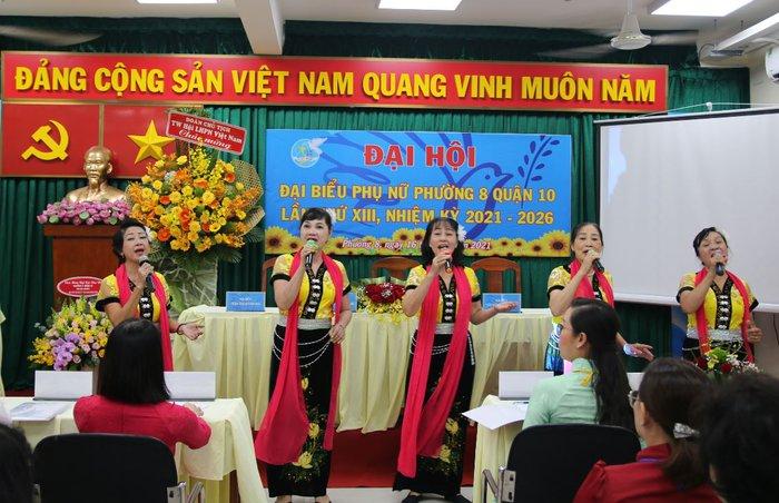 TPHCM: Đại hội Đại biểu phụ nữ phường 8 lần thứ XIII (nhiệm kỳ 2021-2026) - Ảnh 5.