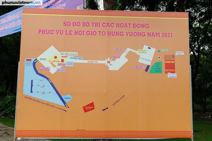 Sơ đồ toàn bộ khu vực diễn ra các hoạt động lễ hội