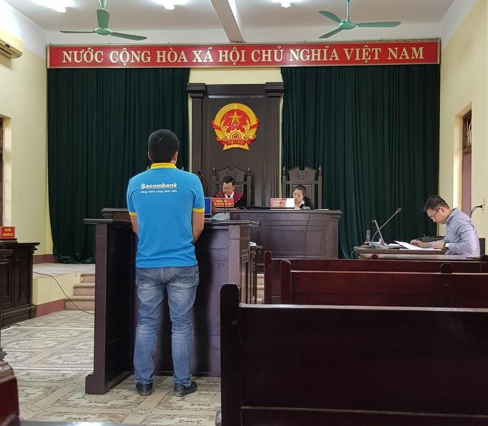 Bị cáo Phùng Xuân Sang tại phiên tòa sơ thẩm