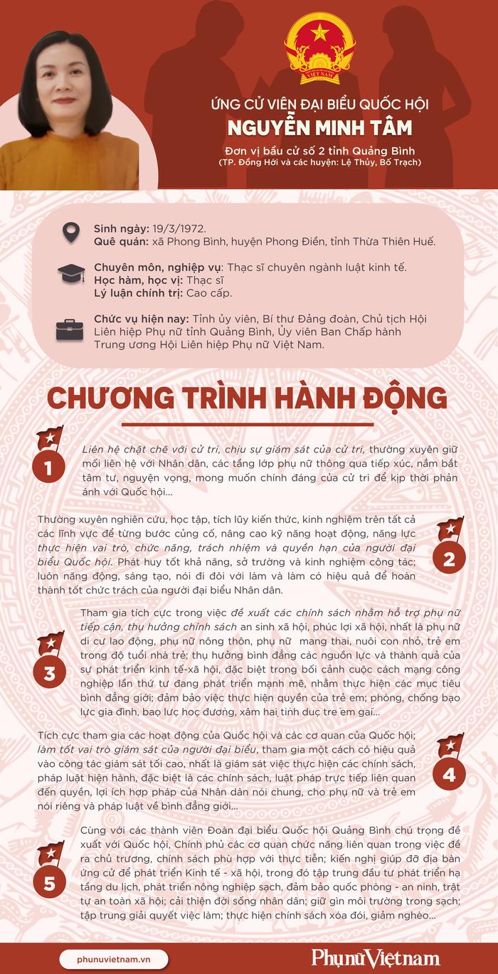 Chương trình hành động của ứng cử viên đại biểu Quốc hội Nguyễn Minh Tâm - Ảnh 1.