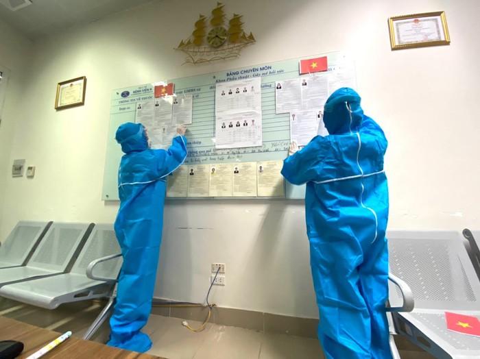 Những hình ảnh Bệnh viện K TƯ chuẩn bị công tác bầu cử ĐBQH và HĐND các cấp - Ảnh 4.