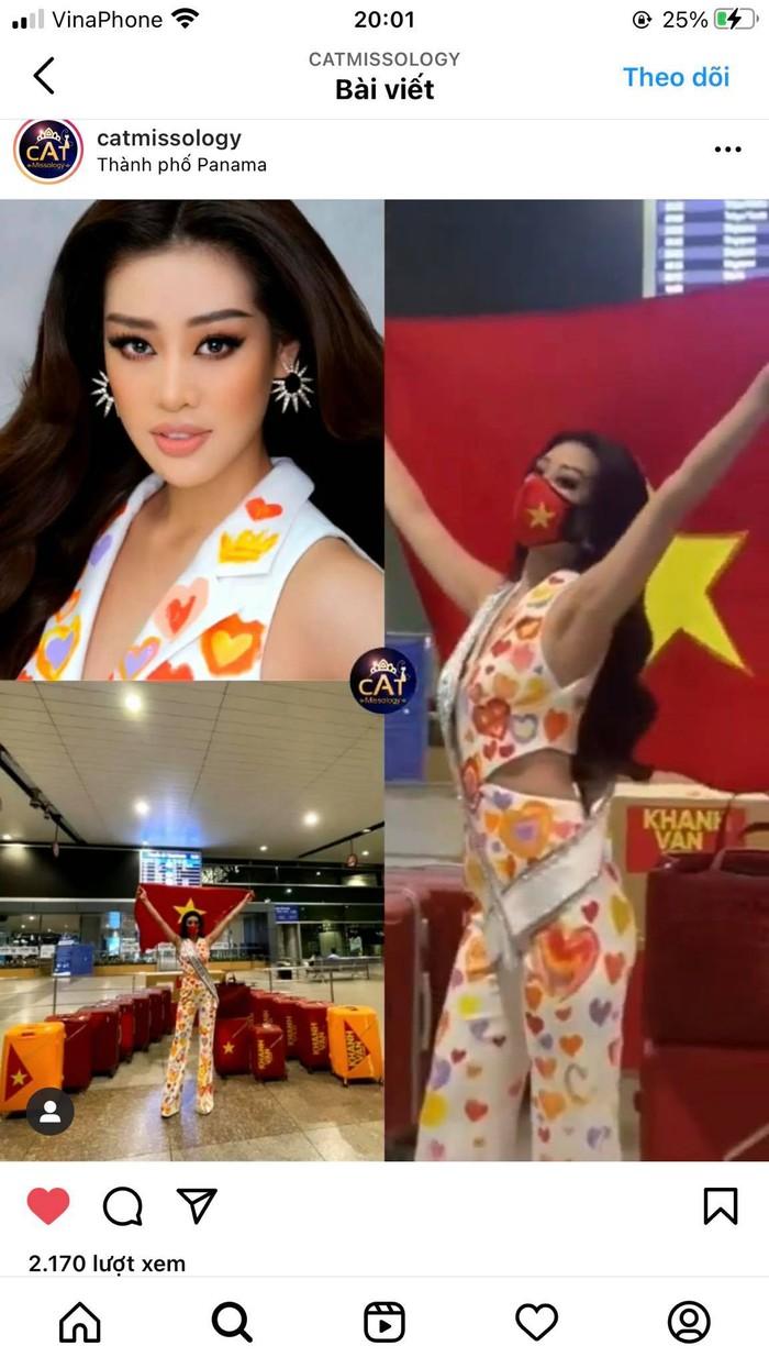 Khánh Vân liên tục thay trang phục trên đường bay đến Mỹ thi Hoa hậu Hoàn vũ - Ảnh 2.