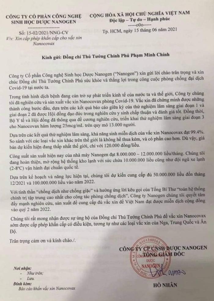 """Vaccine ngừa Covid-19 """"Made in Việt Nam"""" xin được cấp phép khẩn cấp - Ảnh 1."""