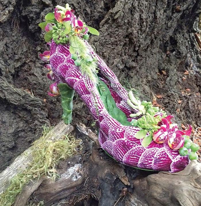 """""""Bản hòa tấu"""" của lá và hoa... trên giày cao gót - Ảnh 3."""
