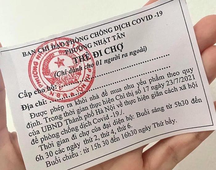 Bí thư Hà Nội yêu cầu phát phiếu đi chợ toàn thành phố - Ảnh 1.