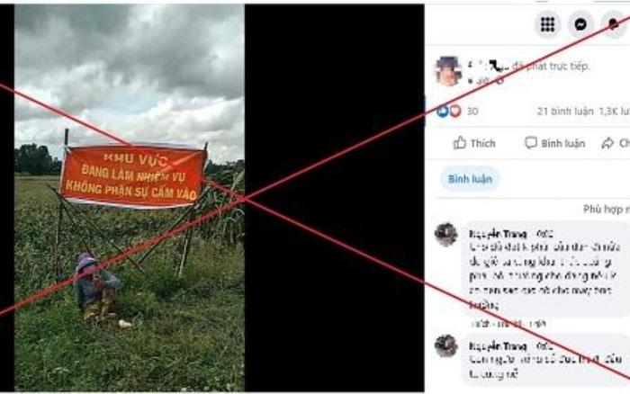 Hình ảnh được lấy từ facebook của S.T.N. Ảnh: CA tỉnh Đồng Tháp