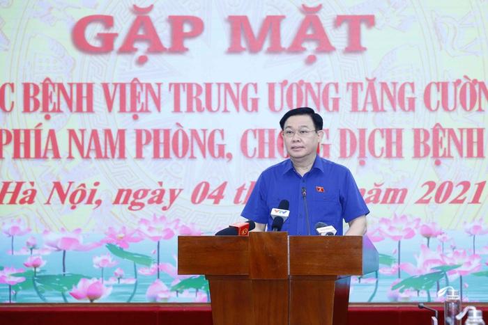 Chủ tịch Quốc hội gặp mặt, động viên gần 3.000 y bác sĩ vào TPHCM chống dịch - Ảnh 1.