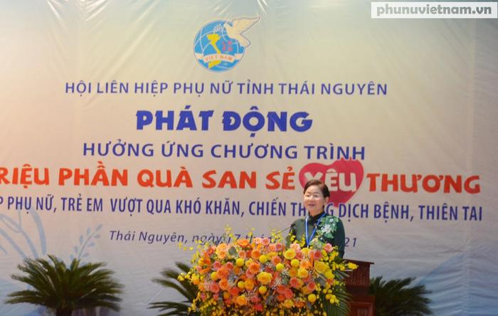 """Phụ nữ Thái Nguyên hưởng ứng Chương trình """"Triệu phần quà san sẻ yêu thương"""" - Ảnh 1."""