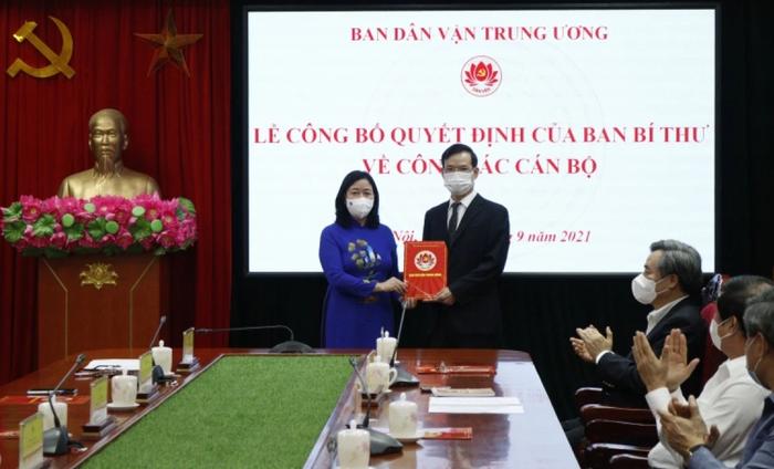 Điều động Phó Ban Kinh tế Trung ương giữ chức Phó Ban Dân vận Trung ương - Ảnh 1.