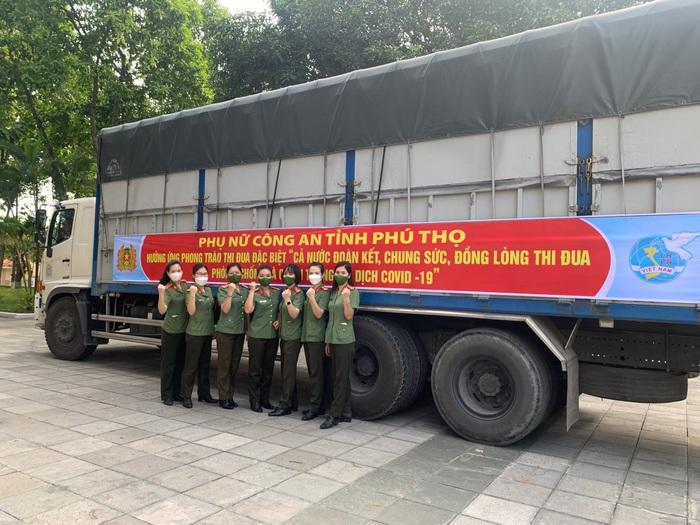Phụ nữ Công an tỉnh Phú Thọ gửi 1.000 suất quà trị giá 250 triệu vào TP HCM và Bình Dương - Ảnh 1.