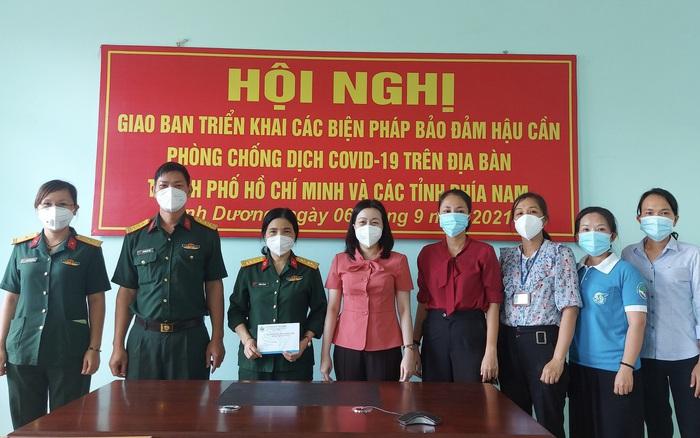 Hội LHPN Bình Dương thăm Bệnh viện dã chiến truyền nhiễm số 5B